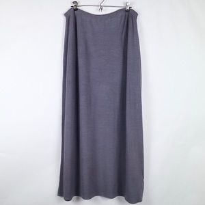 Eileen Fisher purple flared maxi skirt 1X